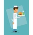 Delicius food Chef icon Delivery concept vector image vector image