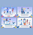 doctor and disabled patient characters banner set vector image vector image