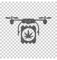 Drone Cannabis Delivery Grainy Texture Icon vector image vector image