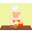 fast food sheep vector image vector image