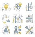 Flat design concept icons on marketing theme vector image vector image