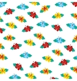 floral pattern decoration icon vector image vector image