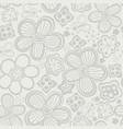 floral seamless pattern handdrawn vector image vector image