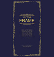 frame art deco line style vector image vector image