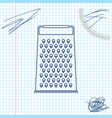 grater line sketch icon isolated on white vector image vector image