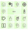 idea icons vector image vector image