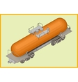 istern railway tank fuel transportation vector image