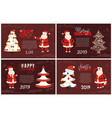 joys greeting card on 2019 new year holiday vector image vector image