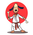 Karate Dog vector image vector image