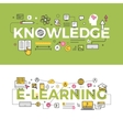 Knowledge and E-Learning Concept Banners vector image vector image