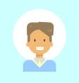 male emotion profile icon man cartoon portrait vector image