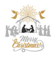 mary and joseph with the baby jesus vector image vector image