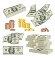 money realistic investment cash dollars banknotes vector image