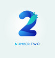 number two in trend shape style vector image
