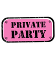 private party stamp vector image vector image