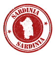 sardinia sign or stamp vector image