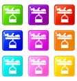 scale baby icons set 9 color collection vector image vector image