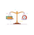 scales and libra vector image vector image