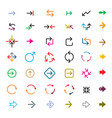 set color arrows collection icons vector image vector image