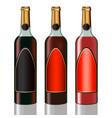 set vine bottles vector image