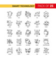 smart technology black line icon - 25 business vector image