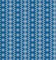 Snowflakes seamless border vector image vector image