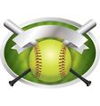 Softball Champions Emblem vector image vector image