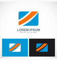 square shape colored business logo vector image vector image