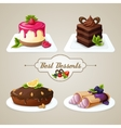 Sweets dessert set vector image vector image