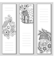Template design bookmarks isolated Coloring page vector image vector image