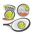 tennis equipment vector image vector image