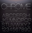 Thin Chrome Font vector image vector image