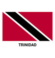 trinidad flag design card vector image
