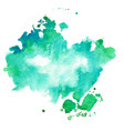 turquoise and blue watercolor texture stain vector image vector image