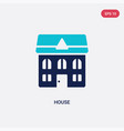 two color house icon from cleaning concept vector image vector image