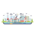 urban landscape with factory - modern flat design vector image