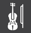 violin glyph icon music and instrument vector image vector image