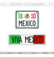 viva mexico stylized car license plate vector image