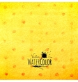 Watercolor polka dot pattern yellow orange and red vector image