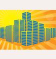 summer city vector image
