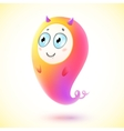 Cute little pink monster character vector image