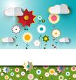 Spring - Summer Sunny Flowers on Garden - Field vector image