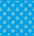 24 hours support pattern seamless blue vector image vector image
