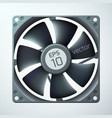 3d computer cooler template vector image vector image