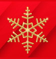 3d golden snowflake merry christmas and happy new vector image vector image