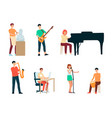 a set artists people creative professions vector image