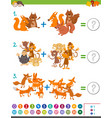 addition maths game for kids vector image vector image