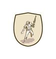American Soldier Serviceman Armalite Rifle Cartoon vector image vector image