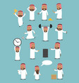 arab businessman in national clothes cartoon set vector image