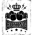 boxing new logo black vector image vector image
